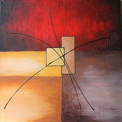 Geometrical Art Painting - Sunrise by Mariya Kazarinova