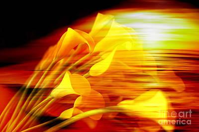 Flowers Mixed Media - Sunrise by Marvin Blaine