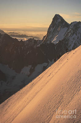 Sunrise Massif Du Mt Blanc Art Print by Soren Egeberg