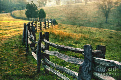 Split Rail Fence Photograph - Sunrise Meadow - Blue Ridge Parkway II by Dan Carmichael