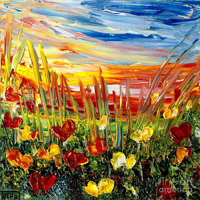 Sunrise Meadow   Art Print by Teresa Wegrzyn