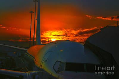 Photograph - Sunrise Melbourne Airport by Rick Bragan