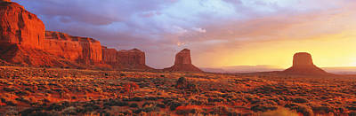 Sunrise, Monument Valley, Arizona, Usa Art Print by Panoramic Images