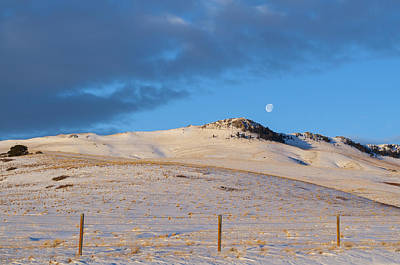 Photograph - Sunrise Moonset by Fran Riley