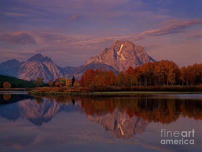 Photograph - Sunrise Mount Moran Oxbow Bend Grand Tetons National Park by Dave Welling
