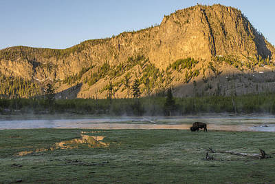 Photograph - Sunrise Mt. Hayes Yellowstone National Park by James Hammond