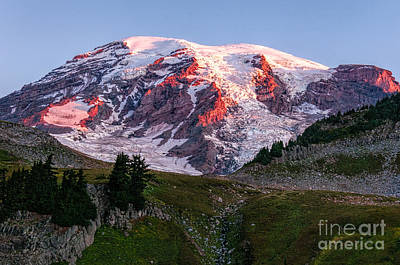 Photograph - Sunrise Mt Rainier by Sharon Seaward