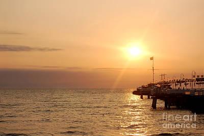 Dawn Photograph - Sunrise Ocean by Michal Bednarek