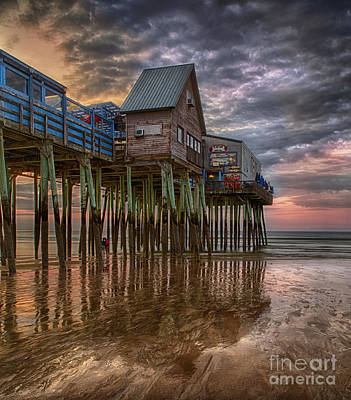 Sunrise Old Orchard Beach Art Print by Jerry Fornarotto