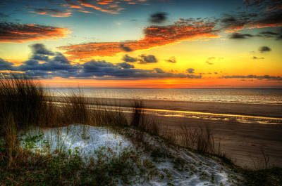 Photograph - Sunrise On A Jekyll Island Dune by Greg and Chrystal Mimbs