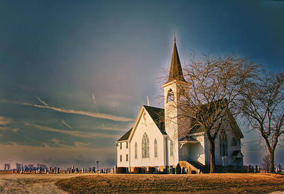 Photograph - Sunrise On A Rural Church Extreme by Thomas Woolworth