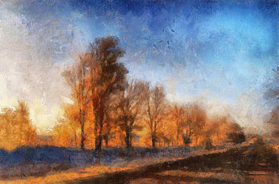 Illinois Farm Land Photograph - Sunrise On A Rural Country Road Photo Art 02 by Thomas Woolworth