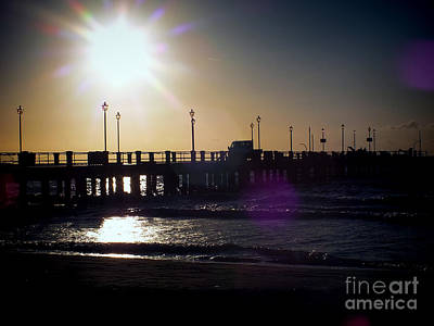 Photograph - Sunrise On Alassio Pier by Karen Lewis