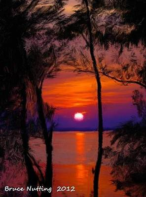 Painting - Sunrise On An Island by Bruce Nutting