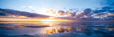 Sunrise On Beach, North Sea, Germany Art Print by Panoramic Images