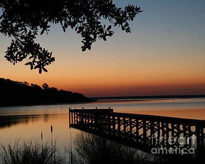 Sunrise On Bogue Sound Art Print by Cari Gesch