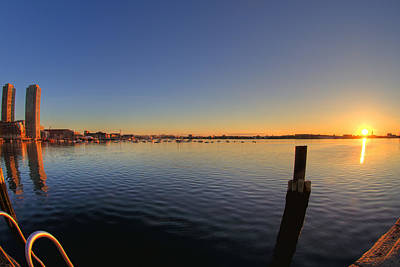 Sunrise On Boston Harbor Art Print