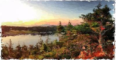 Sunrise On Bungie's Head Isle Au Haut Maine Print by Mary Fennell