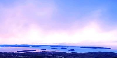 Sunrise On Cadillac Mountain Acadia National Park Art Print by Paul Ge
