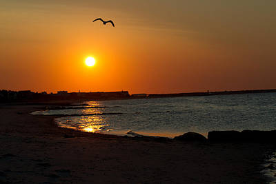 Art Print featuring the photograph Sunrise On Cape Cod by John Hoey