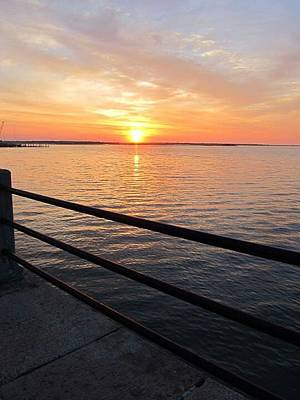 Art Print featuring the photograph Sunrise On Charleston Sc Battery by Joetta Beauford