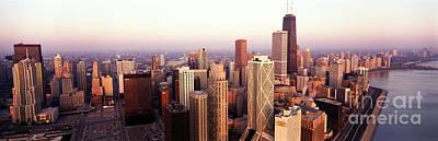 Chicago Skyline Photograph - Sunrise On Chicago by Jon Neidert