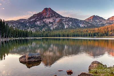 Photograph - Sunrise On Gunsight Mountain by Robert Bales