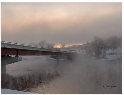 Thomas Kinkade Royalty Free Images - Sunrise on Ice Royalty-Free Image by Daniel Berry