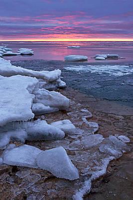 Photograph - Sunrise On Ice by Leda Robertson