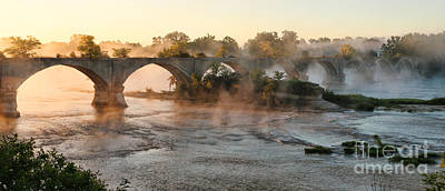 Sunrise On Interurban Bridge 0369 Art Print