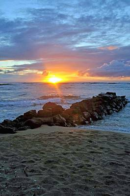 Photograph - Sunrise On Kauai by Caroline Stella
