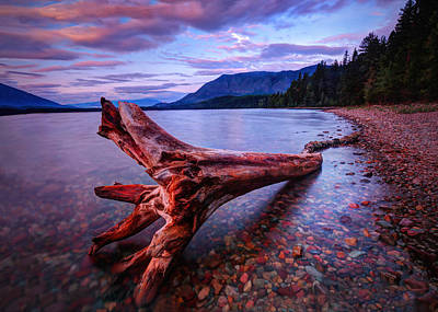 Photograph - sunrise on Lake McDonald by Jaki Miller