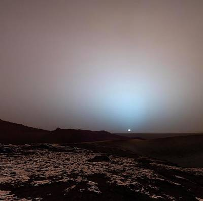 Outer Space Photograph - Sunrise On Mars by Detlev Van Ravenswaay