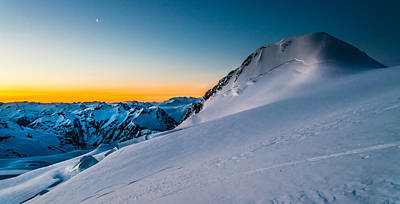 Sunrise On Mount Garibaldi Art Print by Ian Stotesbury