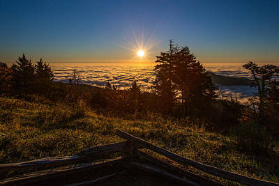 Photograph - Sunrise On Mount Mitchell by John Haldane