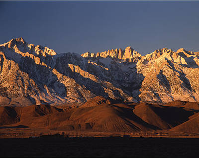 Photograph - 2m6410-sunrise On Mt. Whitney  by Ed  Cooper Photography