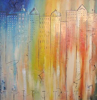 Painting - Sunrise On New York by Gary Smith