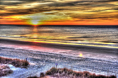 Photograph - Sunrise On North Myrtle Beach - Sc by Craig T Burgwardt