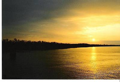 Art Print featuring the photograph Sunrise On Ole Man River by Michael Hoard