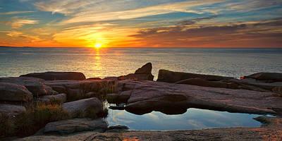 Photograph - Sunrise On Otter Cliff by Darylann Leonard Photography