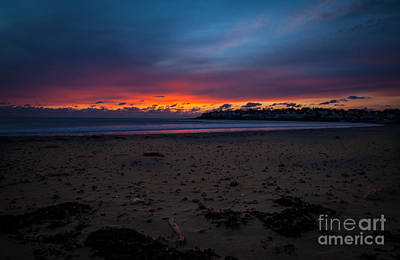 Sunrise On Shortsands  Art Print by Sue OConnor