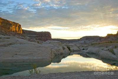 Photograph - Sunrise On Still Water Lake Powell by Kate Sumners