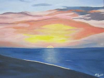 Sunrise On The Atlantic Art Print by Edna Fenske