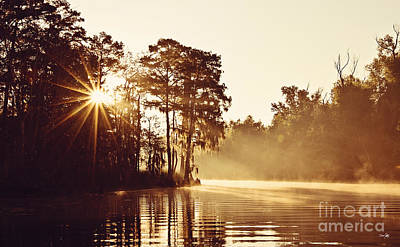 Cypress Swamp Photograph - Sunrise On The Bayou by Scott Pellegrin