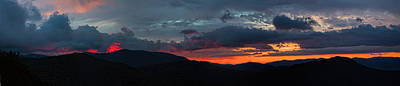 Photograph - Sunrise On The Blue Ridge Parkway Panorama by John Haldane
