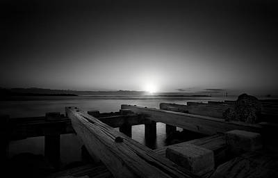 Water Photograph - Sunrise On The Docks by Mark Andrew Thomas