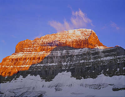 Photograph - 1m3753-sunrise On The East Face Of Mt. Alberta by Ed  Cooper Photography