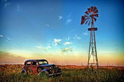 Plymouth Car Photograph - Sunrise On The Farm by Ken Smith
