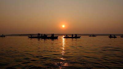 Photograph - Sunrise On The Ganges by Greg Holden