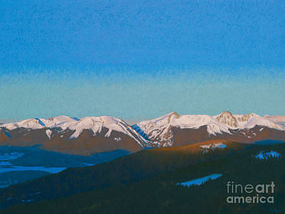 Summit County Painting - Sunrise On The Gore. by Drew Gibson